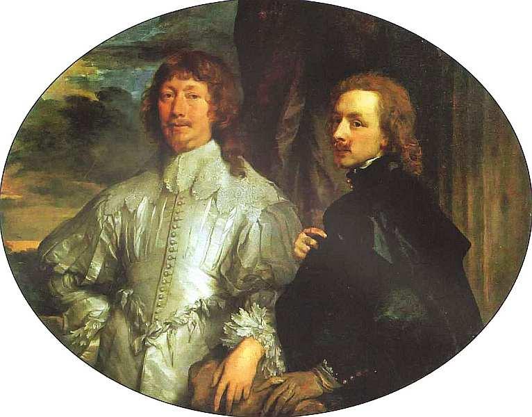 86-Антонис ван Дейк (1599–1641) Автопортрет с сэром Эндимионом Портером. Около 1635.jpg