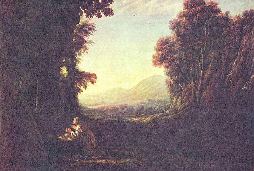 89-Клод Лоррен (1600–1682) Пейзаж с кающейся Марией Магдалиной 1636–1638.jpg