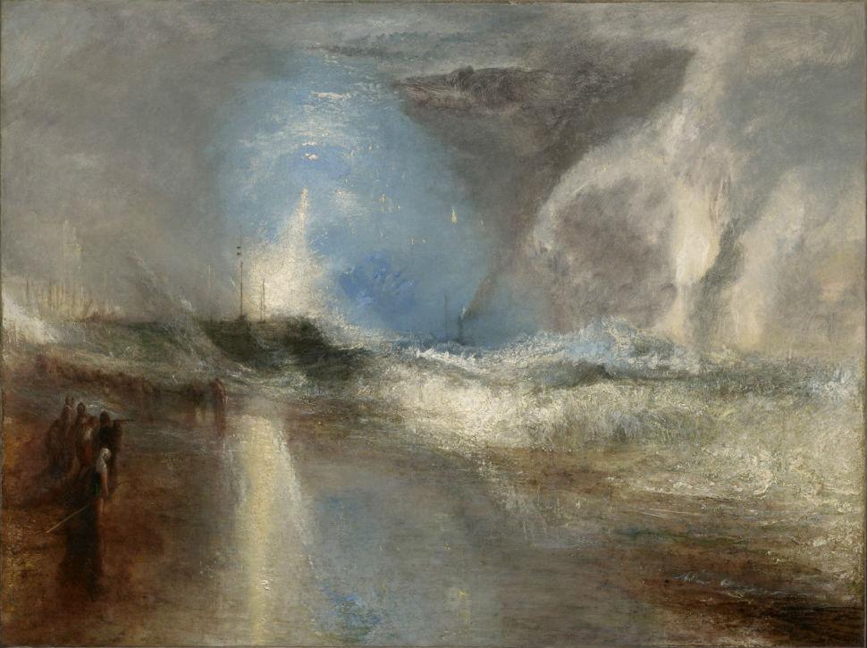 1-Джозеф Мэллорд Уильям Тернер - Ракеты и голубые огни предупреждают пароходы о мелководье - 1840.jpg
