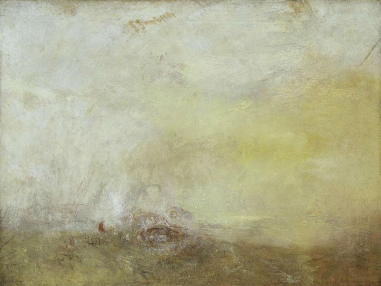 6-Джозеф Мэллорд Уильям Тёрнер - Восход солнца с морскими чудовищами - 1845.jpg