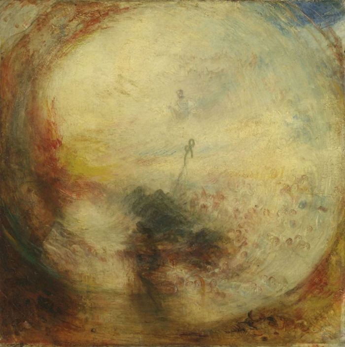 8-Джозеф Мэллорд Уильям Тёрнер - Свет и цвет (теория Гёте) - Утро после потопа  Моисей пишет Книгу Бытия - 1843.jpg