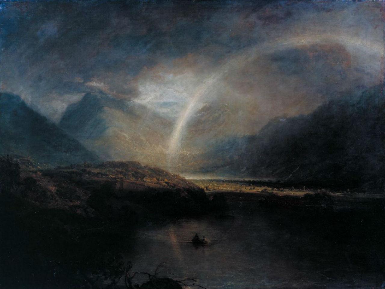 10-Джозеф Мэллорд Уильям Тёрнер - Озеро Баттермер с видом на Кромакуотер в Камберленде  ливень - 1798.jpg