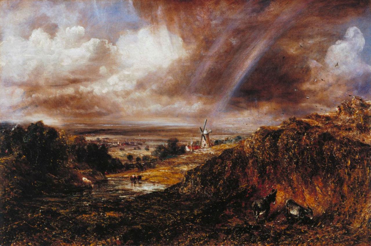 11-Джон Констебл - Хэмпстед-Хит с радугой - 1836.jpg