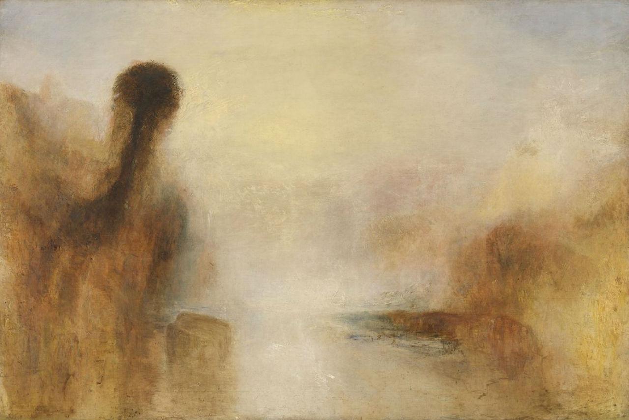 12-Джозеф Мэллорд Уильям Тёрнер - Пейзаж с водой - 1840-е.jpg