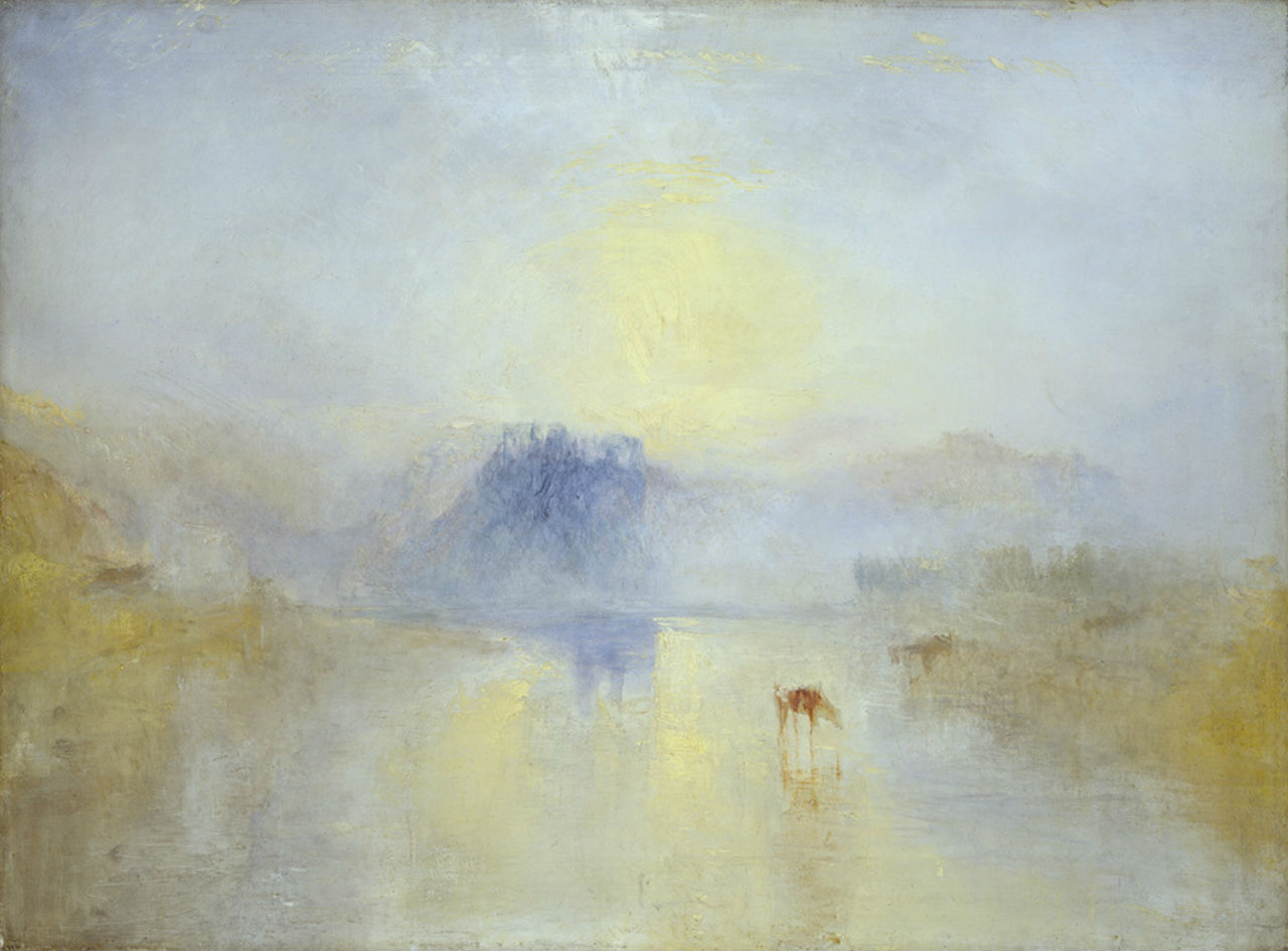 17-Джозеф Мэллорд Уильям Тёрнер - Замок Норем на рассвете - 1845.jpg