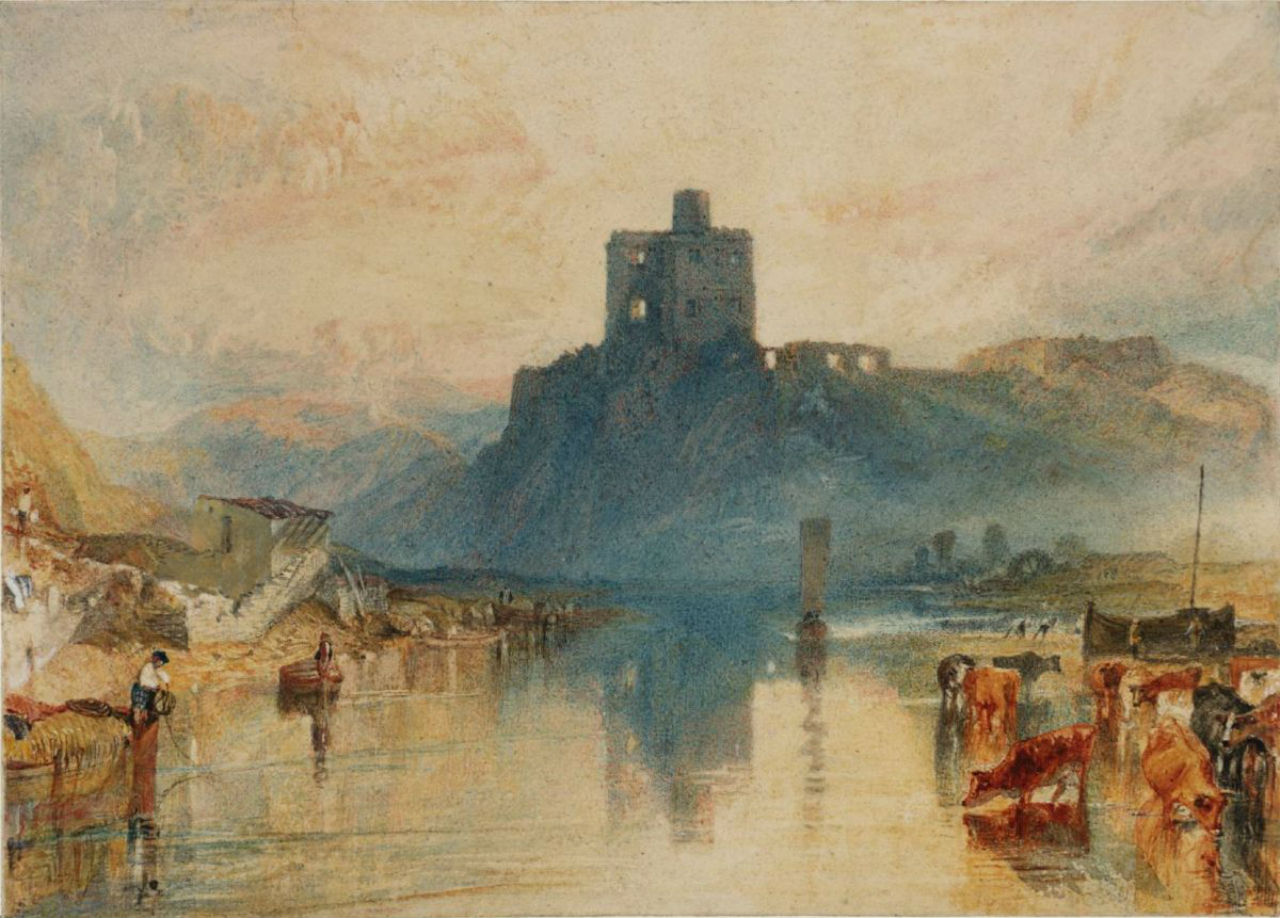 18-Джозеф Мэллорд Уильям Тёрнер - Замок Норем на реке Туид - 1823.jpg