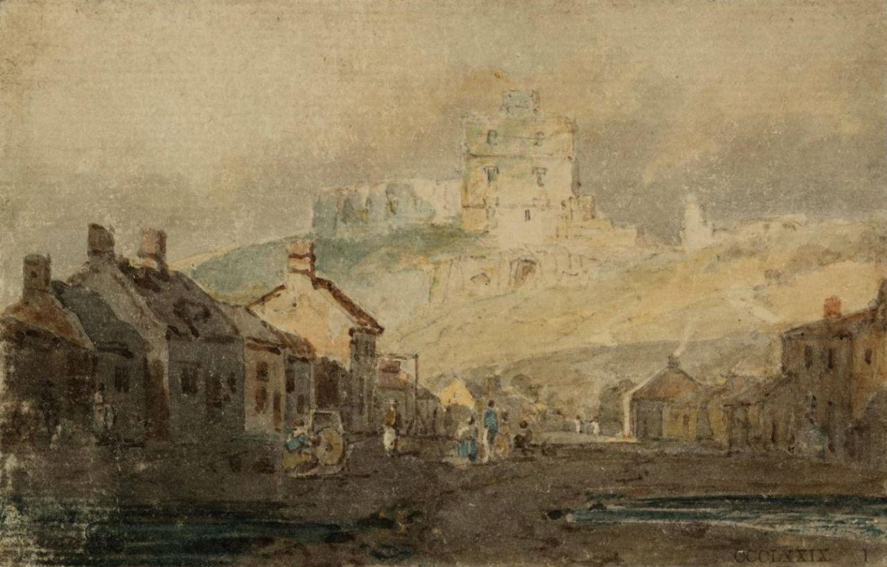 20-Джозеф Мэллорд Уильям Тёрнер - Деревня Норем и замок -  1797.jpg