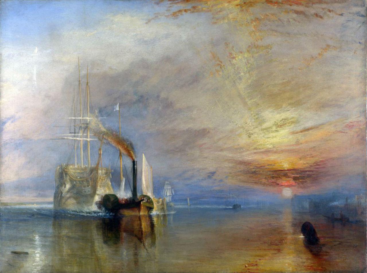 22-Джозеф Мэллорд Уильям Тёрнер  - Последний рейс фрегата Отважный -1839.jpg