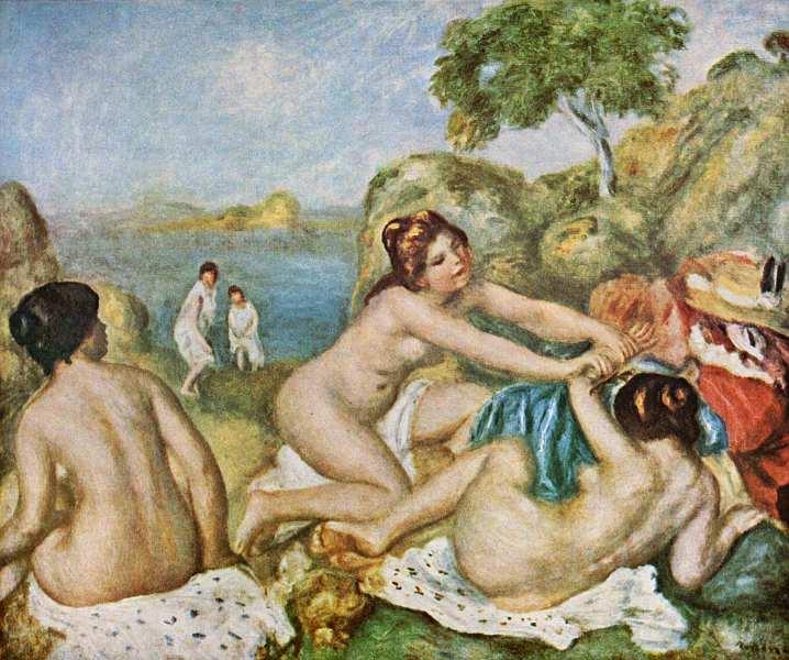 3-Пьер Огюст Ренуар (1841–1919) Купальщицы, играющие с крабом. Около 1897.jpg