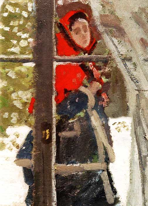 6-Клод Оскар Моне (1840–1926) Красный платок 1868–1873 (фрагмент).jpg