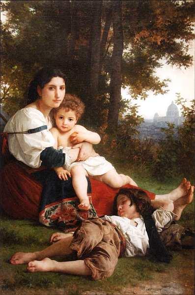9-Вильям Адольф Бугро (1825–1905) Отдых 1879.jpg