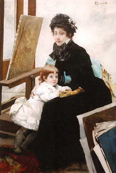 11-Поль Альберт Бенар (1849–1934) Портрет Маделин Лероль с дочерью Ивонной. Около 1879–1880.jpg