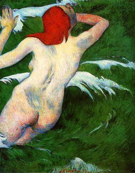 12-Поль Гоген (1848–1903) В волнах (Танец в волнах) 1889.jpg