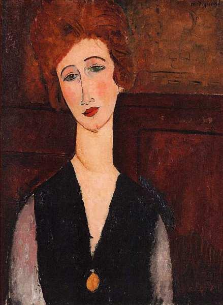 20-Амедео Модильяни. Женский портрет. 1917–1918.jpg