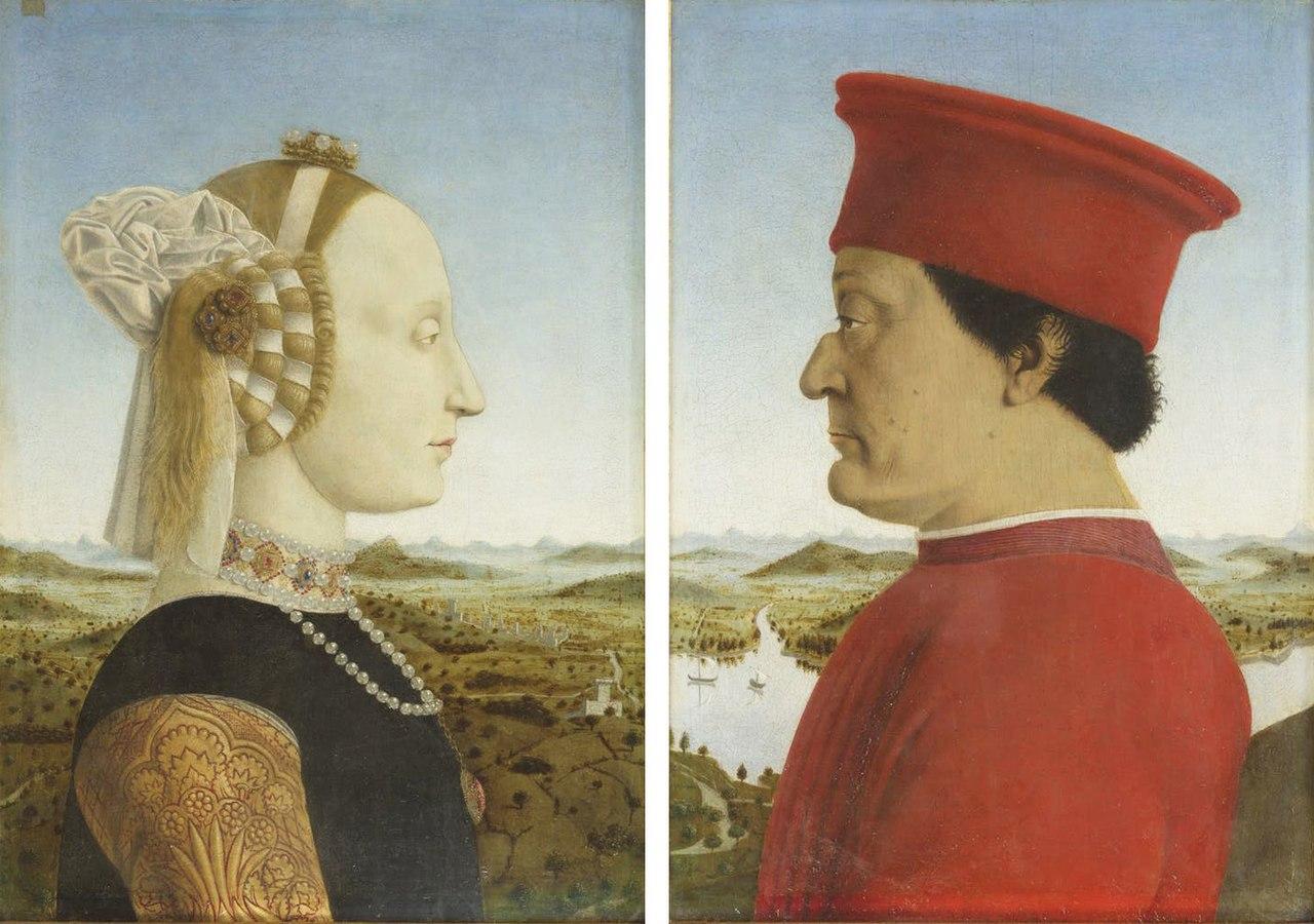 2-Пьеро делла Франческа - Портрет Федериго да Монтефельтро и Баттисты Сфорца - 1465-1472.jpg