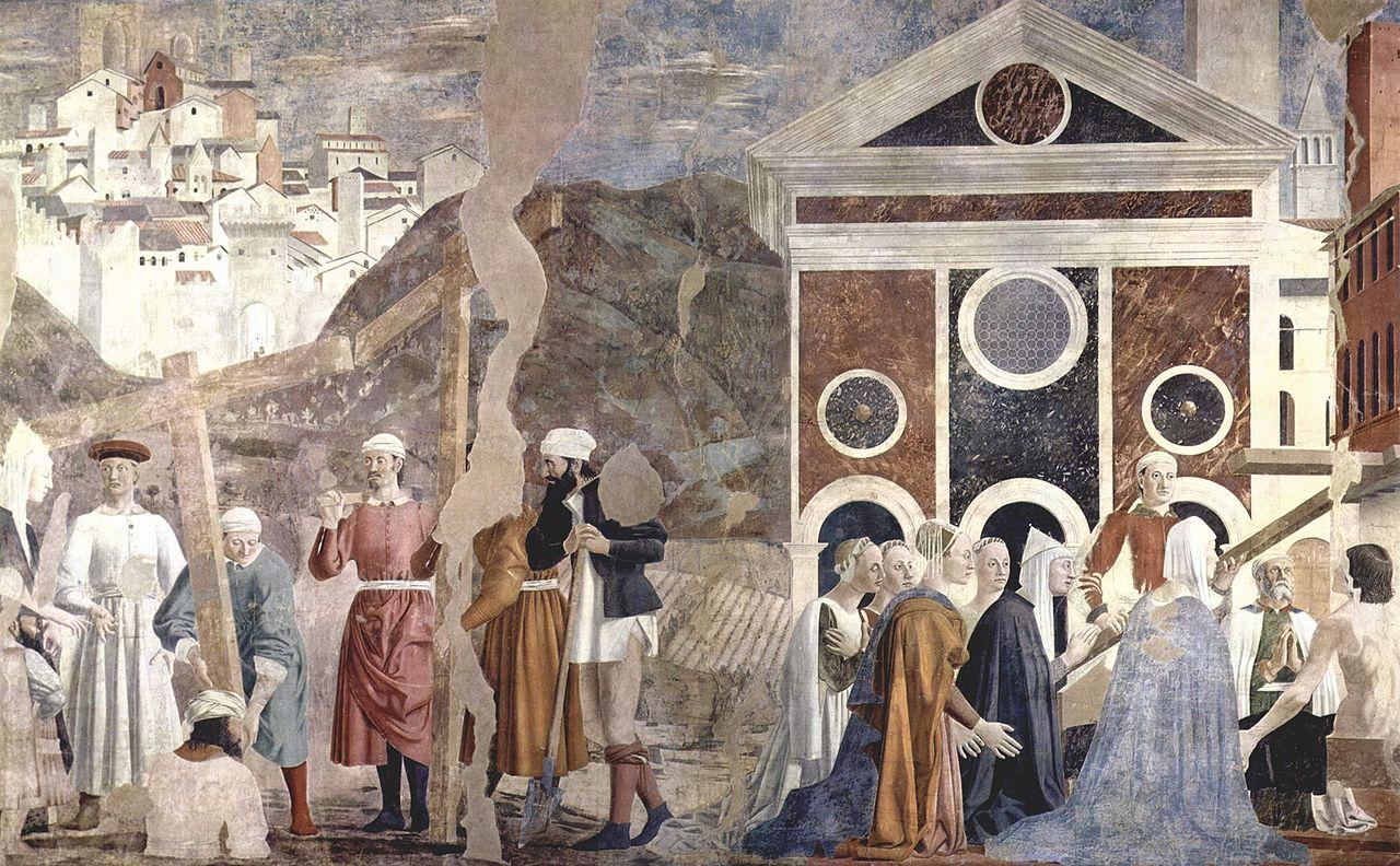 3-Пьеро делла Франческа - Обретение и испытание Животворящего Креста.jpg