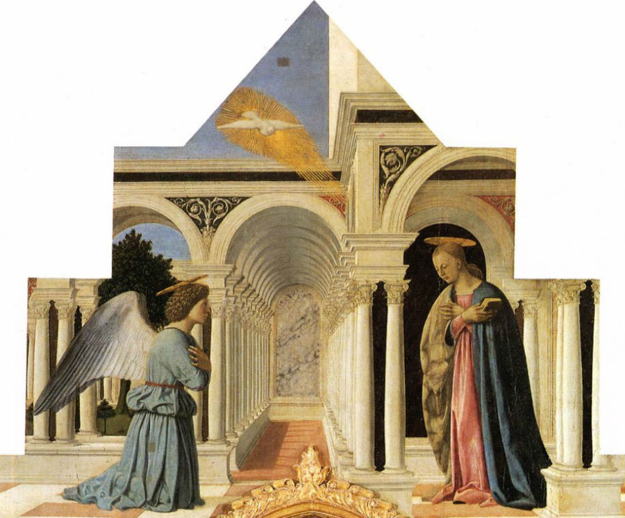 7-Пьеро делла Франческо - Благовещение - Национальная галерея Умбрии - Перуджа.jpg