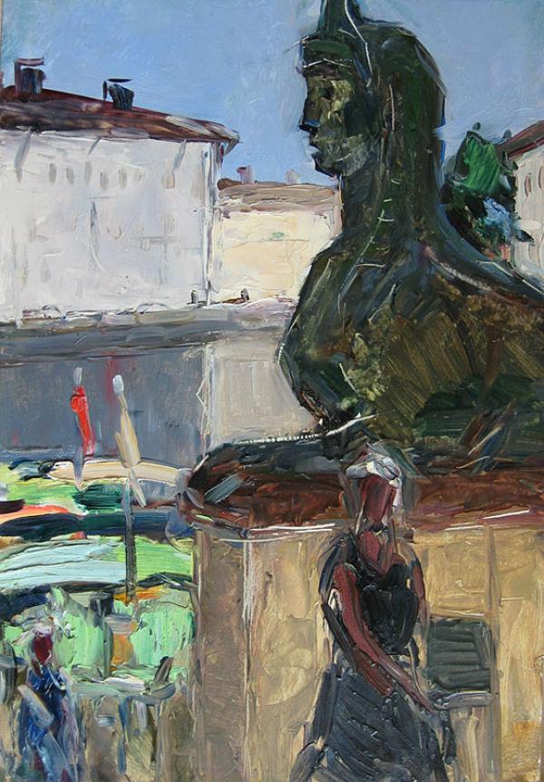 Арсений Семёнов (1911-1992) - У Египетского моста - 1961.jpg