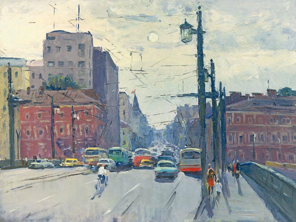 Александр Семёнов (1922-1984) - Литейный мост - 1982.jpg