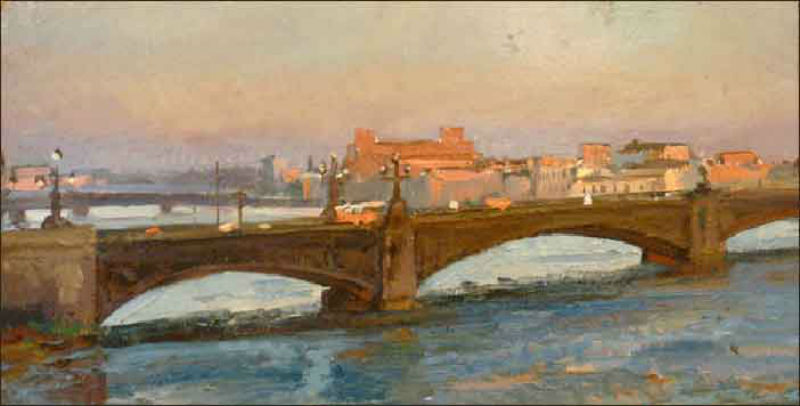 Хухров Юрий Дмитриевич (1932-2003) - Троицкий мост 1980-е.jpg