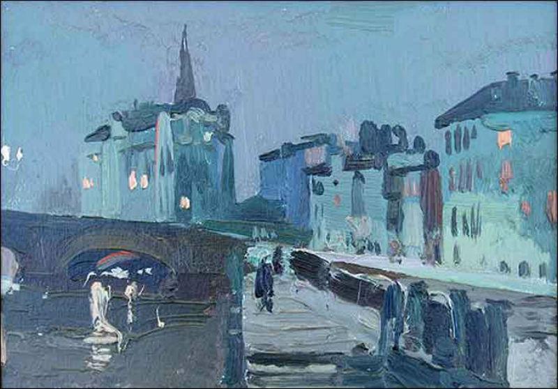 Хухров Юрий Дмитриевич (1932-2003) - У Самсоньевского моста - 1972.jpg