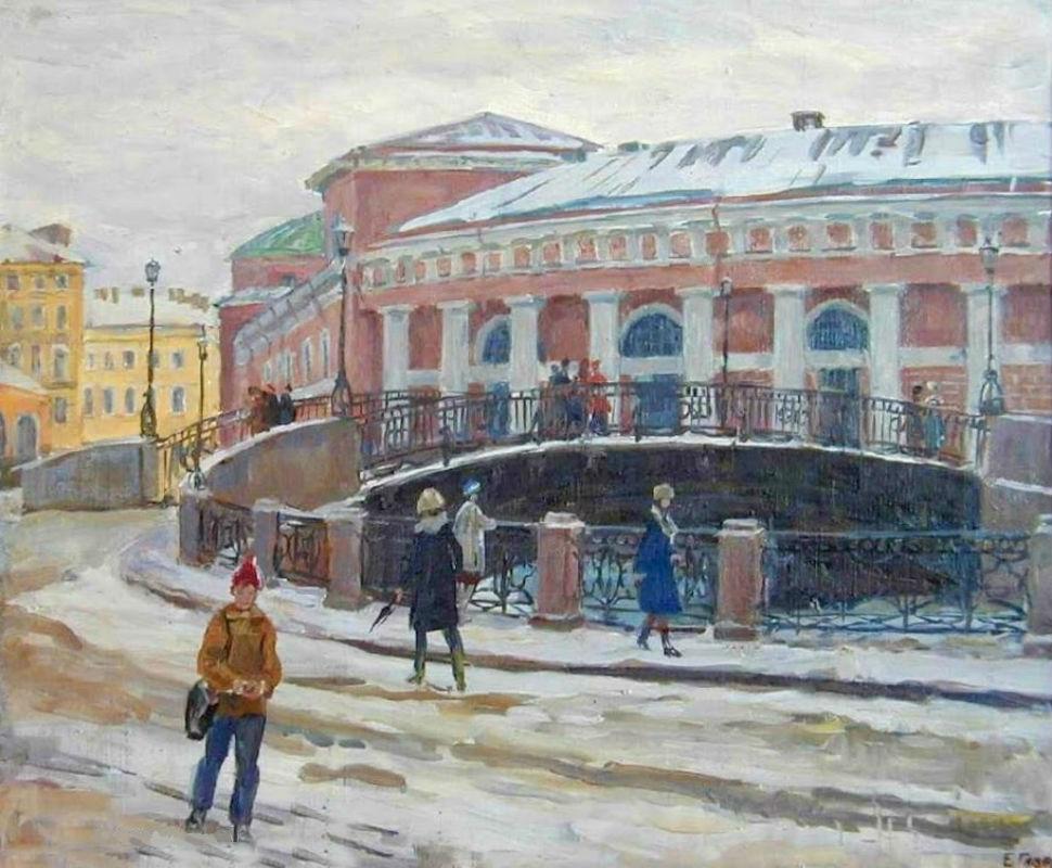 Гаврилькевич Евгений Григорьевич (1929-2004) - У моста - 1974.jpg