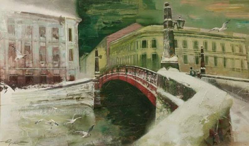 Сергей Сиделев - Красный мост.jpg