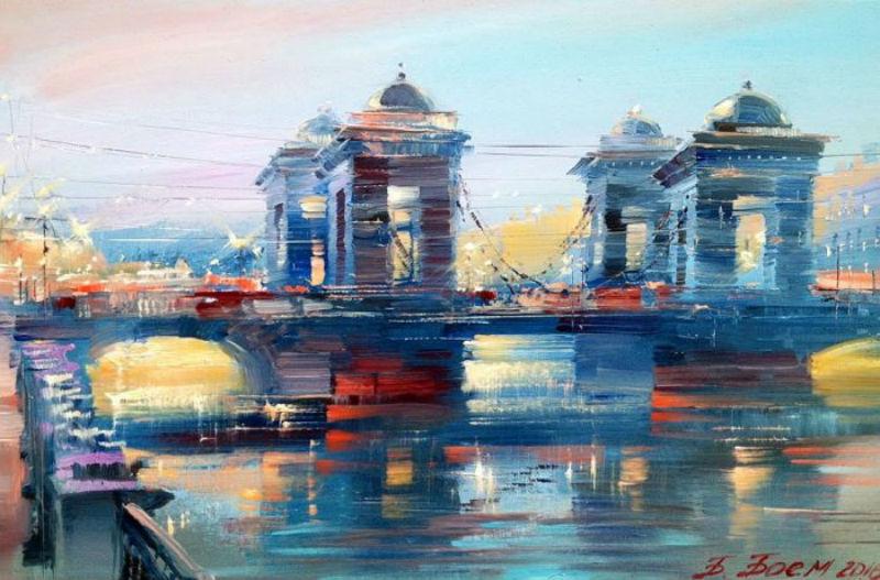 Бэгги Боем - Вечерний Ломоносовский мост.jpg