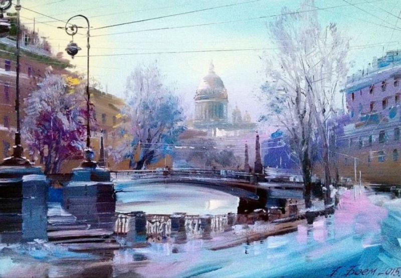 Бэгги Боем - Мойка зимой Поцелуев мост.jpg