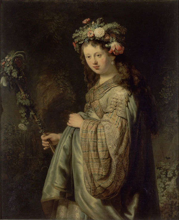 4-Флора - Саския в образе Флоры - 1634.jpg
