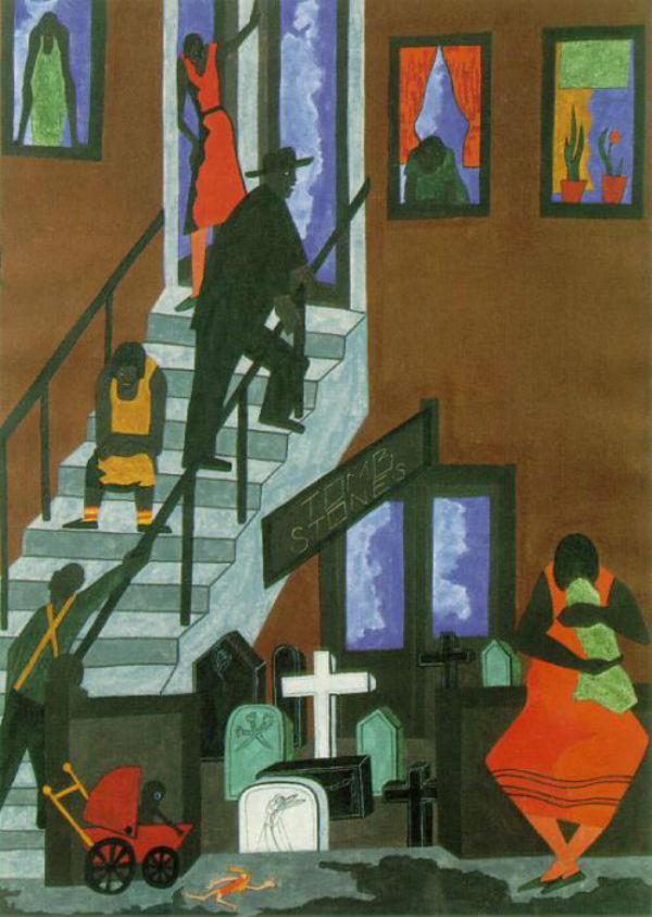 Джейкоб Лоуренс - Надгробия - 1942.jpg