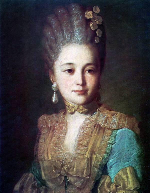 Портрет неизвестной в голубом платье с желтой отделкой - 1760-е.jpg