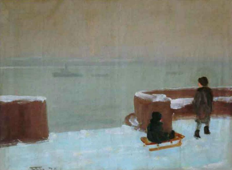 5-В А Гринберг - Набережная Невы зимой - 1936.jpg