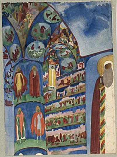 6-Н Тырса - Интерьер церкви Николы Мокрого в Ярославле.jpg