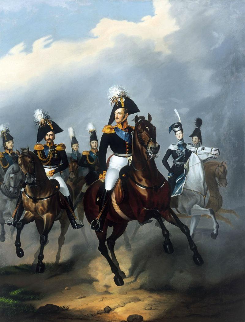 Франц Крюгер - Портрет Николая I со свитой.jpg
