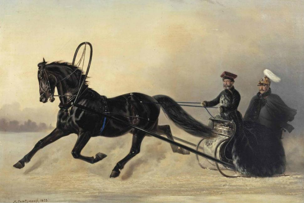 Николай Егорович Сверчков - Николай Ш на зимнем выезде - 1853.jpg