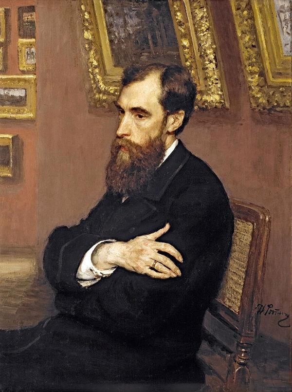 Илья Ефимович Репин - Портрет Павла Третьякова - 1883.jpg