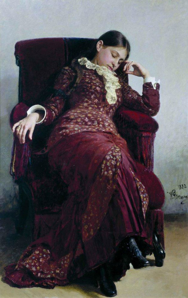 1-Илья Ефимович Репин - Отдых (портрет жены художника) - 1882.jpg