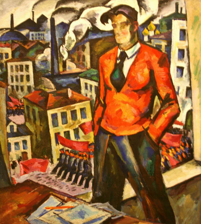 Герман Егошин - Портрет В В Маяковского (эскиз картины) -  1964.jpg