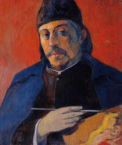 Поль Гоген - Автопортрет с палитрой - 1894.jpg