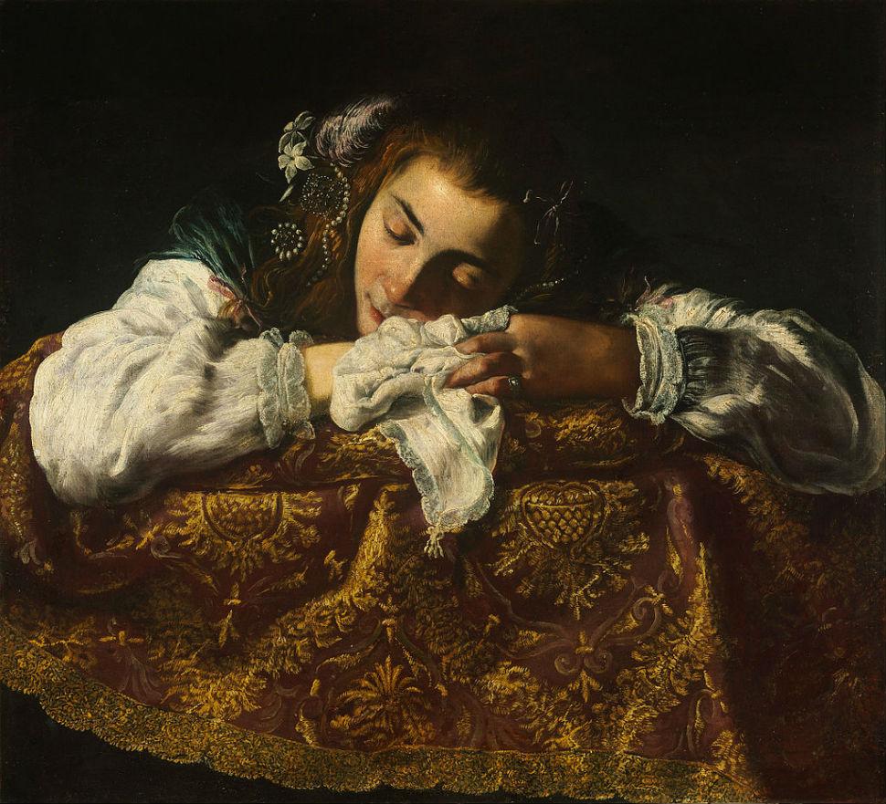 Доменико Фетти - Спящая девушка.jpg