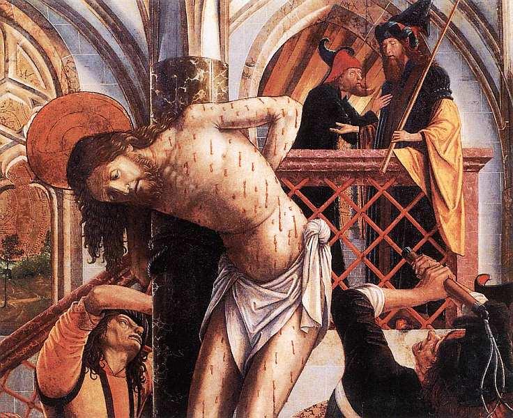 6-Михаэль Пахер (1435–1498) - Бичевание Христа - Около 1495–1498.jpg
