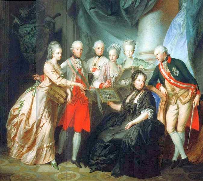 10-Генрих фон Фюгер (1751–1818) - Императрица Мария Терезия королева Венгрии и Богемии с семьей.jpg