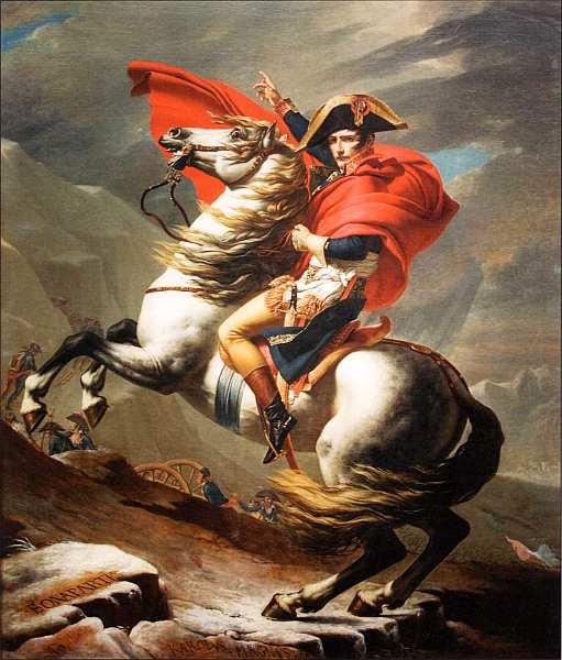 13-Жак-Луи Давид (1748–1825) - Наполеон на перевале Сен-Бернар - 1801.jpg