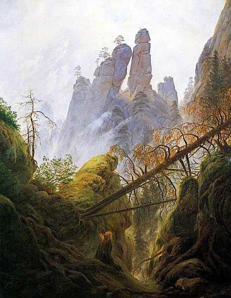 15-Каспар Давид Фридрих (1774–1840) - Скалистый пейзаж в Эльбских Песчаниковых горах - 1822–1823.jpg
