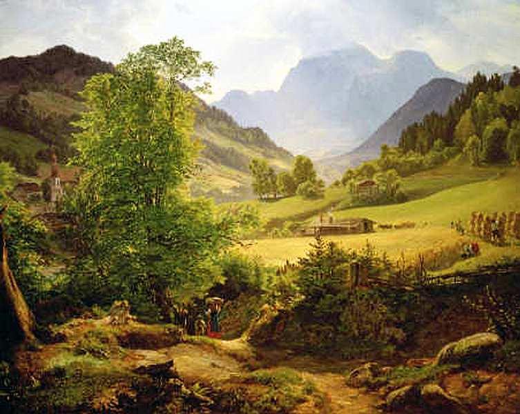 17-Фридрих Лоос (1797–1890) - Рамзау у Берхтесгадена - 1836.jpg