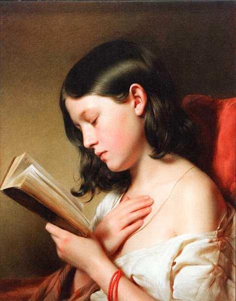 23-Франц Эйбл (1806–1880) - Читающая девушка - 1850.jpg