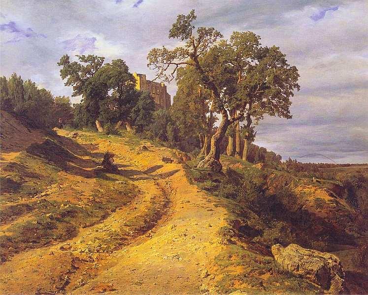 27-Фердинанд Георг Вальдмюллер (1793–1865) - Руины Лихтенштейна в Медлинге - 1848.jpg