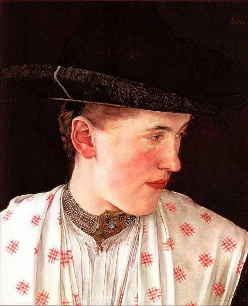 30-Вильгельм Лейбл - Портрет крестьянской девушки - Около 1880.jpg