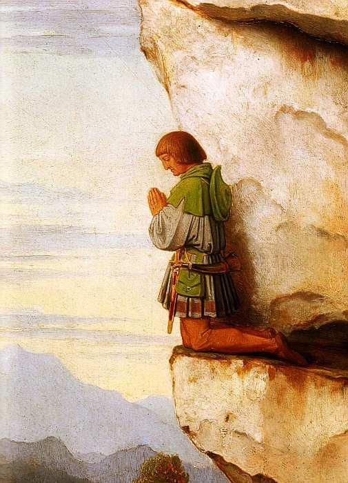 32-Мориц фон Швинд (1804–1871) - Кайзер Максимилиан I в горах Мартинсванд - 1860 (фрагмент).jpg